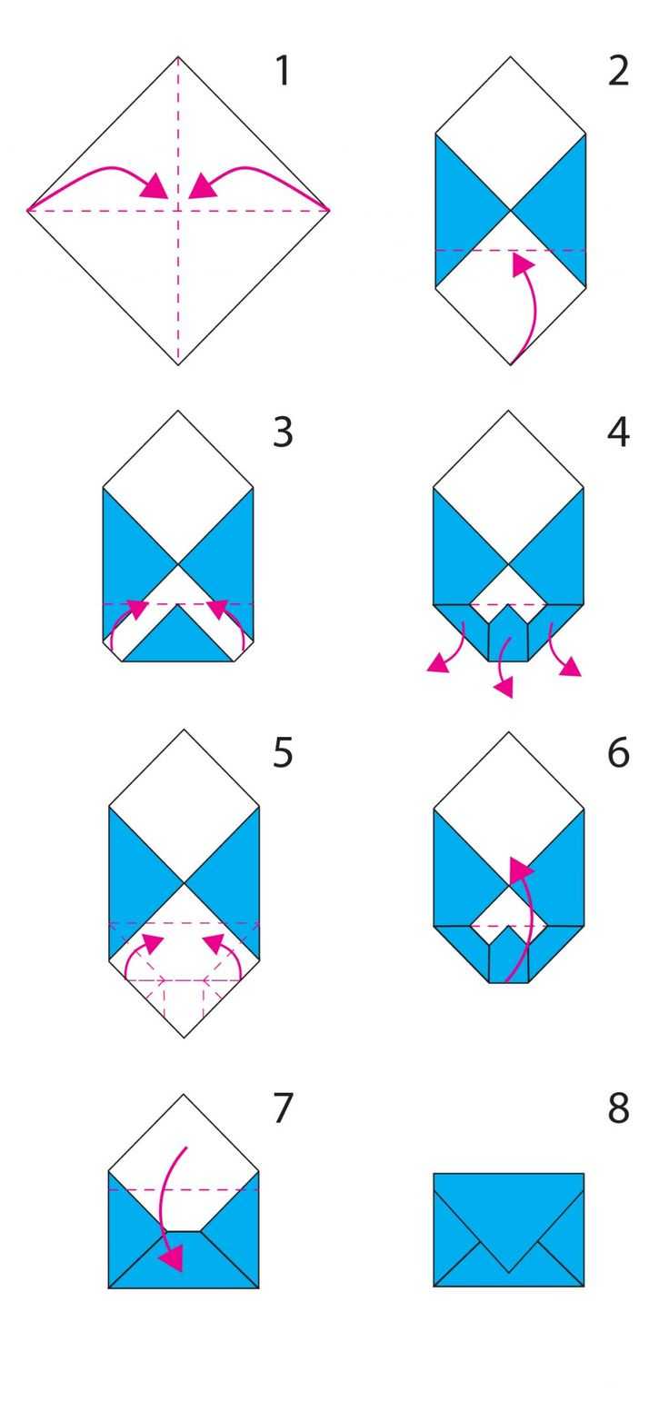 Envelope folding instructions how to make an easy origami envelope - 17 Meilleures Id 233 Es 224 Propos De Origami Envelope Sur