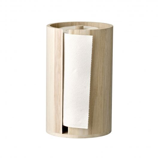 Portarollos Bloomingville madera natural: Paper Holders, Paulownia Bloomingvil, Kitchens Rolls, Bloomingvil Küchenrollenhalt, Wood, Deco Wishlist, Bloomingvil Kjøkkenrullhold, De Paulownia, Bloomingvil Tørkerullhold