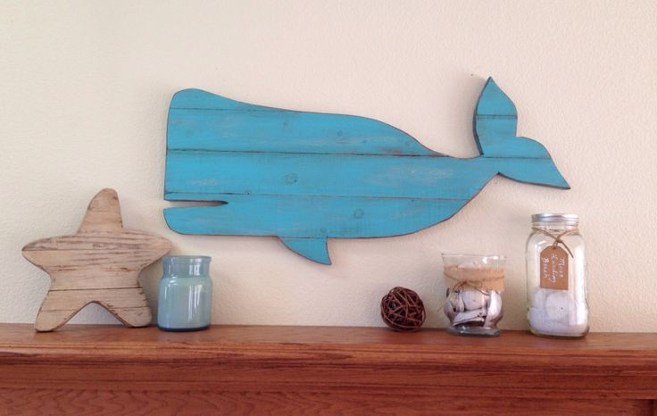 Holiday Sale! Wooden Pallet Whale, rustic whale, whale decor, surf decor, beach decor by NCSustainableStyle on Etsy