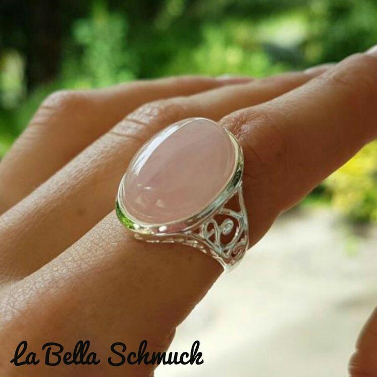 Ring mit rosa quarzstein  http://www.labella-schmuck.ch/produkt-kategorie/ringe/