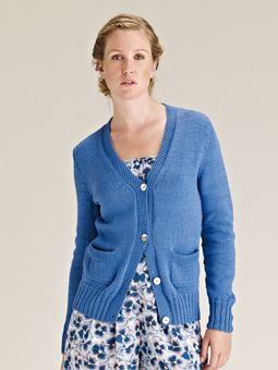 Knitting Pattern For Cardigan With Pockets : 10 best images about Simple Shapes Cotton Glace on Pinterest Stockings, Mos...
