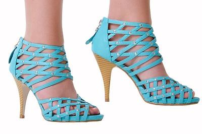 escarpins sandales talons hauts  turquoise on eBay!