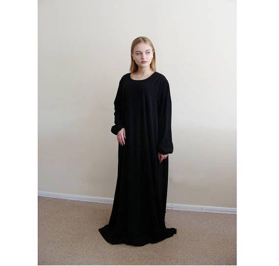 Zwarte zomer maxi jurk Abaya oversized jurk islamitische