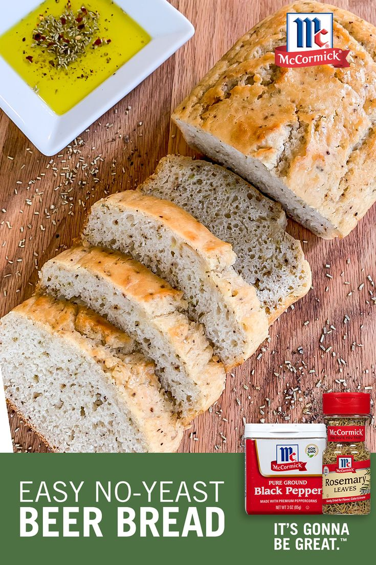 Rosemary No-Yeast Beer Bread | Recipe | Beer bread, Bread ...