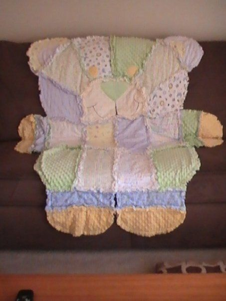 Rag Quilt Pattern Bear : Teddy Bear Rag Quilt by SewCrochetedMB on Etsy, USD 85.00 Crochet & Sewing Pinterest Quilt ...