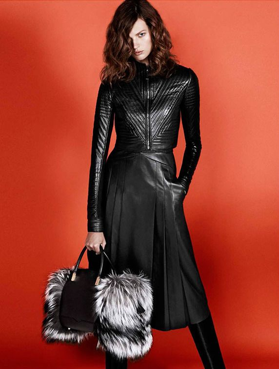Designer Leather Fashions — Bette Franke - J. Mendel Fall 2013 Ad Campaign