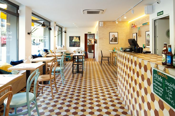 Interior designed by Mucho for Barcelona based Deli restaurant and all day cafe La Florentina