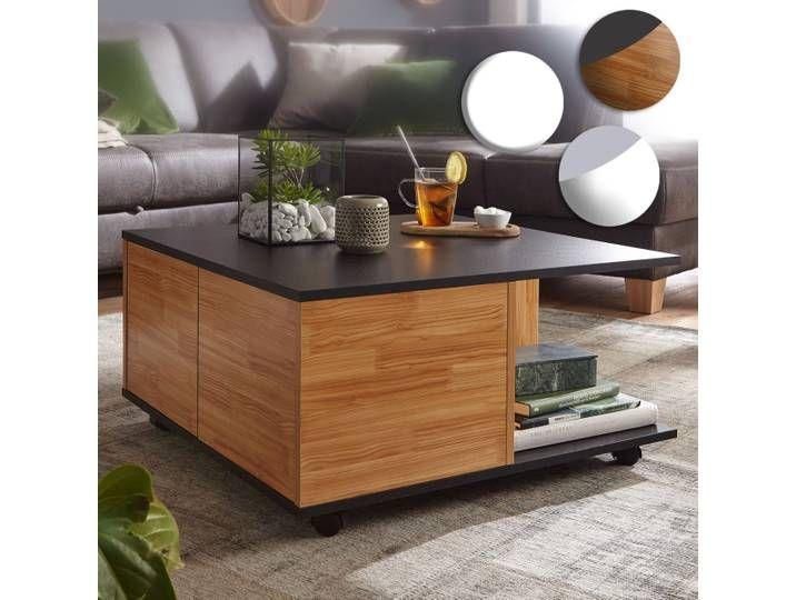 Finebuy Design Couchtisch 70x70 Cm Wohnzimmertisch Mit 2