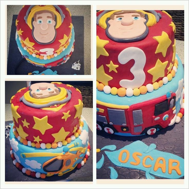 Fireman Sam cake - Lola Pola Designs