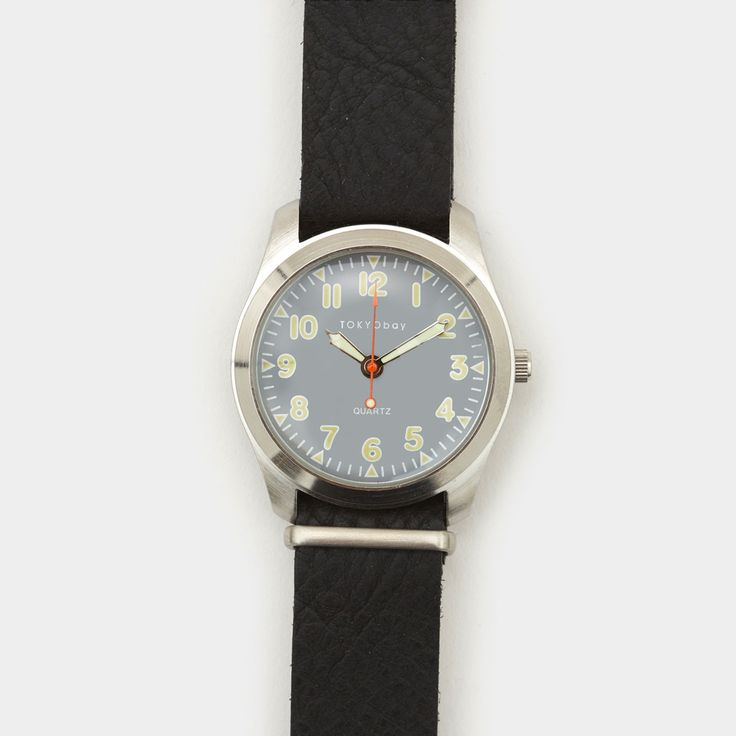 Tokyo Bay Basic Leather Watch Black