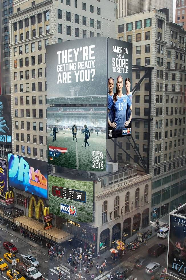 World Cup billboard, Times Square. (Twitter).