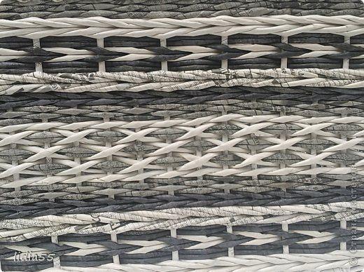 Поделка изделие Плетение короб в шкаф Трубочки бумажные фото 4