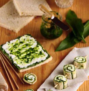 Cuisine sauvage : recette de roulés à l'ail de l'ours et au fromage de brebis frais - Ma cuisine saine, bio et bonne