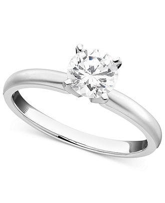 Ssolitaire Engagenent Ring White Gold About