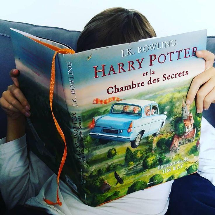 Pour motiver mes enfants à se plonger dans les livres d'Harry Potter (la version poche restant sans attrait sur l'étagère...) nous avons acheté les albums illustrés par Jim Kay. Cela a bien fonctionné car les très beaux dessins ont rendu plus facile la lecture du texte intégral ... #lecturedumoment #instabook#livres #bookstagram#lire# #bookaddict  #instalivre #harrypotter #jimkay #jkrowling #litteratureenfantine #litteratureenfant #livreharrypotter