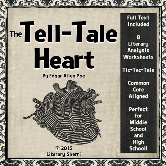 literary essay on the tell-tale heart Tell tale heart is about a man with a killer instinct he is bothered and irked by a man with a weird eye this story is a typical poe story due to the darkness and moral interwoven into the story.