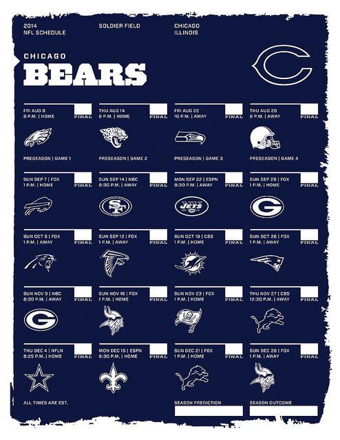 Chicago Bears 2014 NFL Schedule