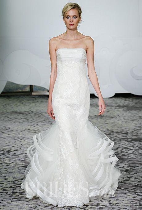 A strapless trumpet wedding dress by @rivini | Brides.com