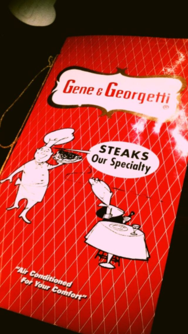 Gene and  Georgetti's Steakhouse in Chicago Illinois..old school for sure! But ladies ur man will love u for this one! If ur a beef eater.. For sure check them out! I swear I thought the rat pack might show up! On Chicago's north side .