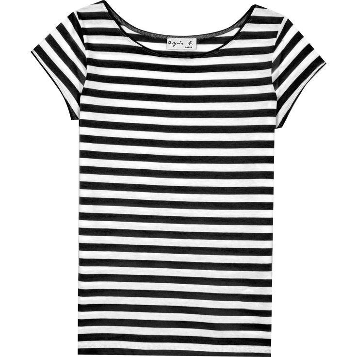 T-shirt australie rayé noir et blanc