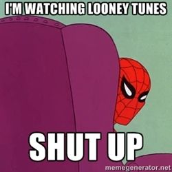 Looney Tunes and spiderman meme | Suspicious Spiderman - Most popular images all time - page 4