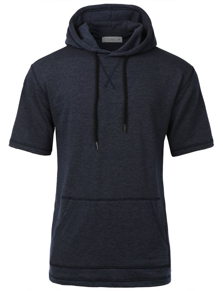 Stay trendy and looking casual in this soft blend short sleeve hoodie sweatshirt top. This longline inspired hoodie top is designed for for all streetwear enthusiasts. Crafted from a soft terry materi
