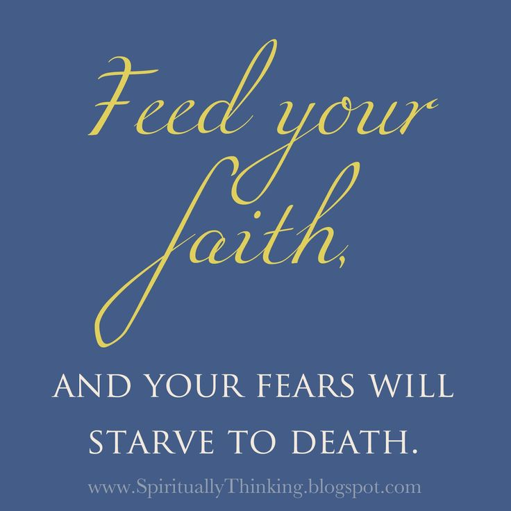You got to have the FAITH!