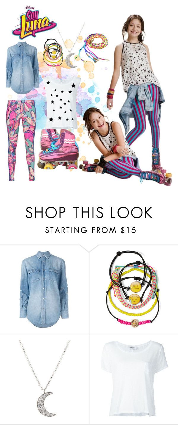 """""""soy luna"""" by maria-look on Polyvore featuring Yves Saint Laurent, Carole, Finn, Mus, Frame Denim and adidas Originals"""