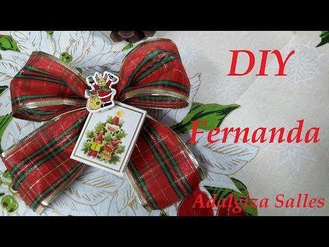 Ateliê Adalgiza Salles: DIY - Laço porta cartão de Natal por Adalgiza Sall...