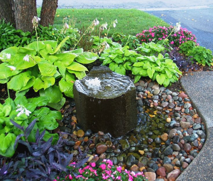 Pondless Water Feature Front And Backyards Pinterest