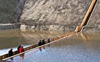 I'd love to go see this.  The invisible Moses bridge in the Netherlands