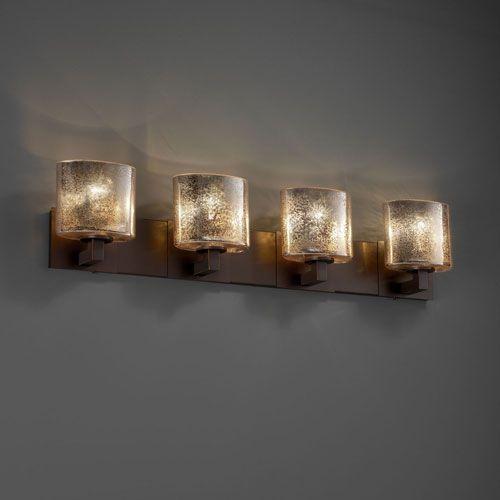 Justice Design Group Fusion Modular Four Light Dark Bronze Bath Fixture