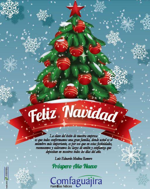 Tarjeta de Navidad de la Caja de Compensación Familiar de La Guajira (Comfaguajira)