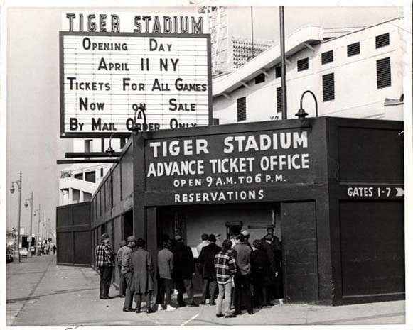 Opening day at Tiger Stadium vs the New York Yankees - possibly my very first baseball game