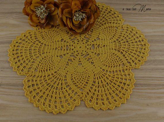 Centrino rotondo doily crochet centrino uncinetto  by Acasaconmanu
