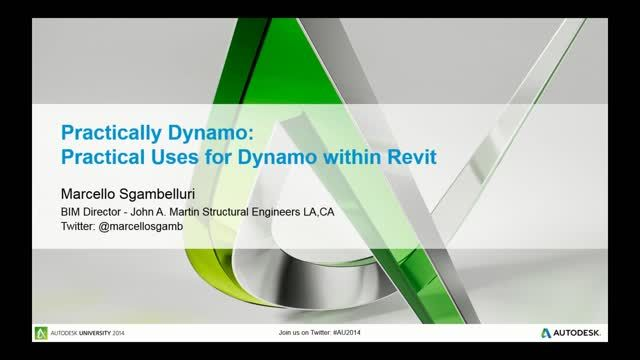 Have you ever wanted to learn the Dynamo visual programming language extension for Revit software but you decided to run and hide instead because you thought it was only for super-complex geometry and twisting towers? It's not. The Dynamo extension is for every Revit user. This lecture will describe the uses of the Dynamo extension and explain how it interacts with Revit software to help any Revit user. The Dynamo extension is a program that uses visual programming, but don't let that scare…