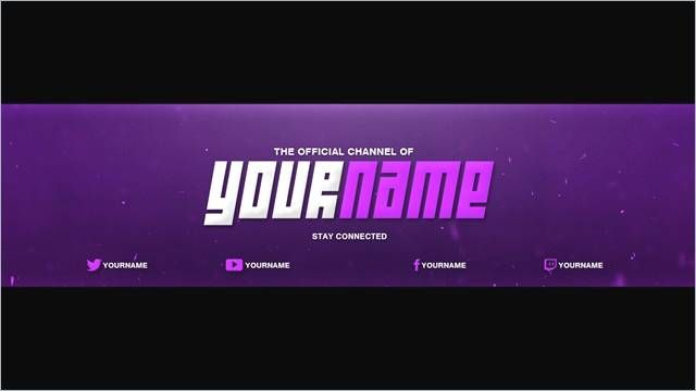Channel Banner Template 2560×1440