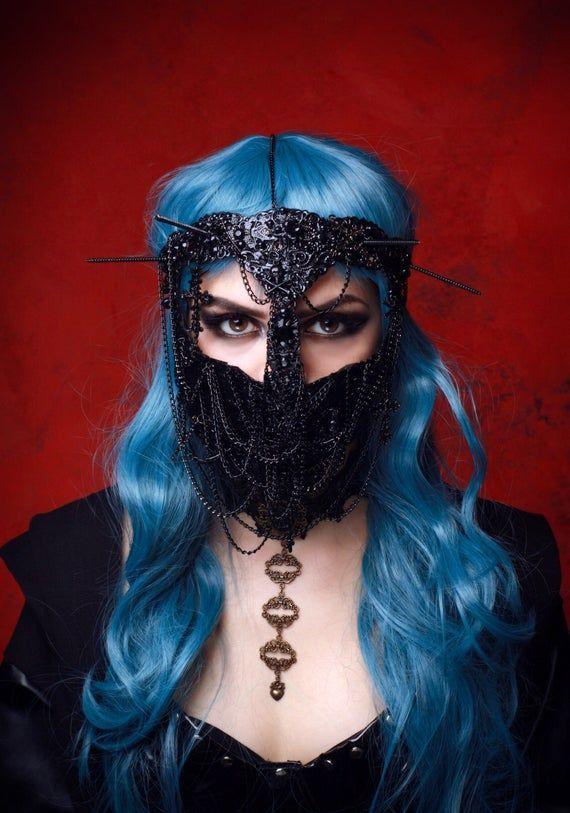 RAIDERS M-k crown m-sk black m-sk face m-k metal rhinestones m-sk face crystals m-sk,black crown,m-sk Halloween Face m-sk couture