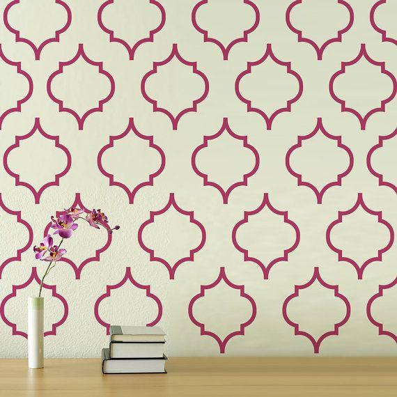 Moroccan Pattern 2  Vinyl Wall Decal   wall par wordybirdstudios, $42.95