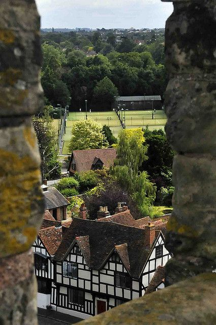 View From The Ramparts of Warick Castle, England