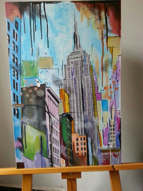 Pop art.  Empire State. New York
