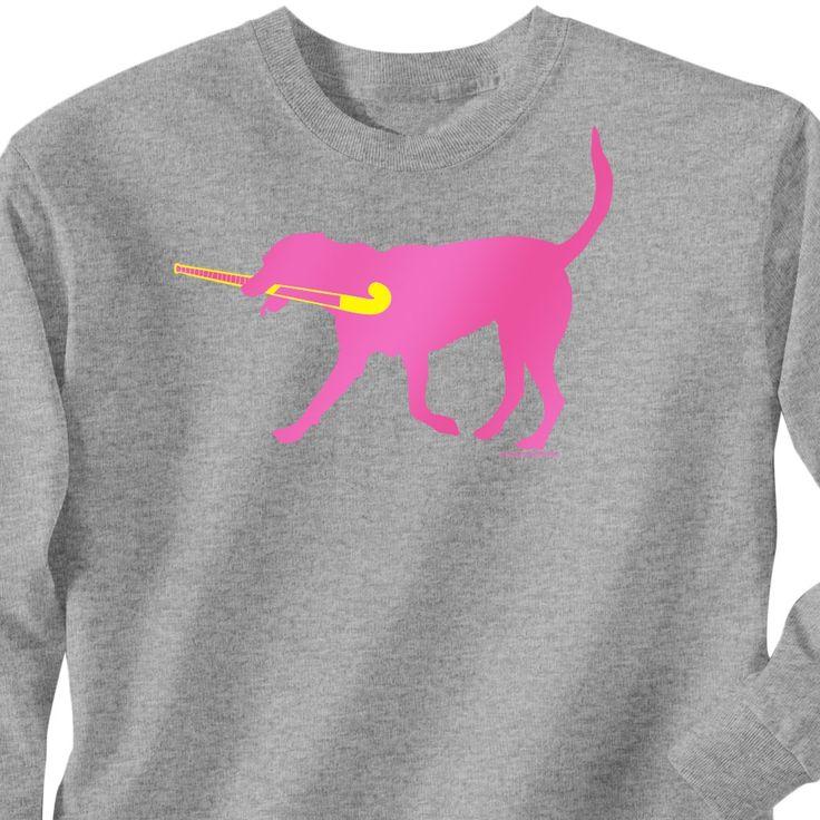 field hockey shirt w/ dog