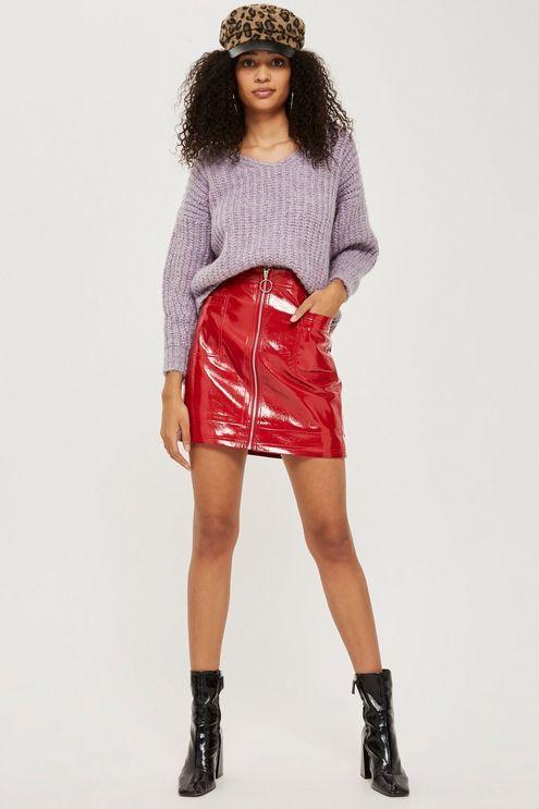 9e1172013c TALL Cracked Vinyl Zip Mini Skirt   outfit inspo   Mini skirts ...