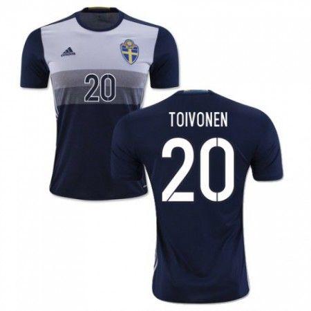 Sverige 2016 Toivonen 20 Borte Drakt Kortermet.  http://www.fotballpanett.com/sverige-2016-toivonen-20-borte-drakt-kortermet.  #fotballdrakter
