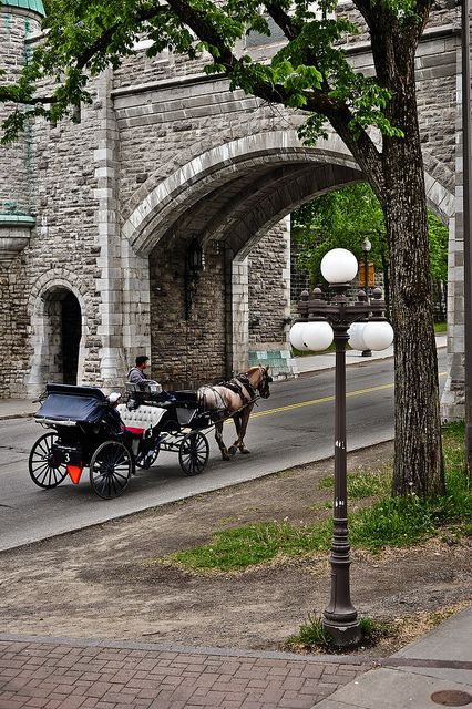 St. Louis Gate, Quebec City, Quebec, Canada; This is one of the few remaining gates through the original walls that used to surround and protect the city.