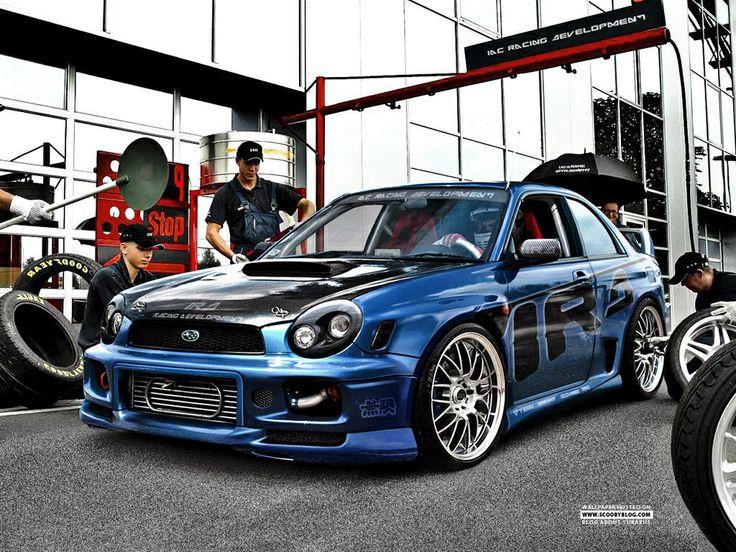 Subaru wrx sti. Street racer