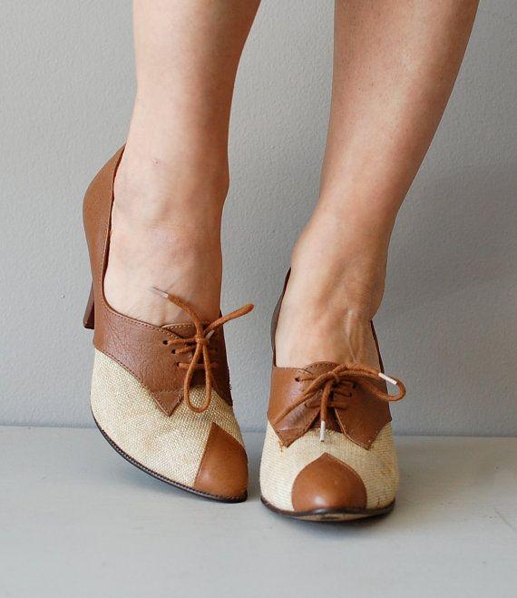 oxford heels / heeled oxfords / spectator oxford by DearGolden