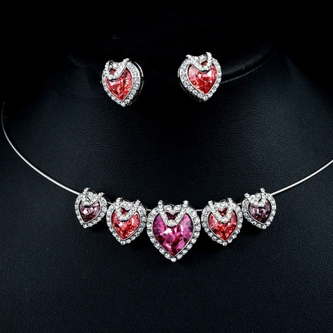 Gorgeous Swarovski Elements Hearts Necklace and Earrings Set!  So unique and pretty!  Only $74.99 or make me an offer!