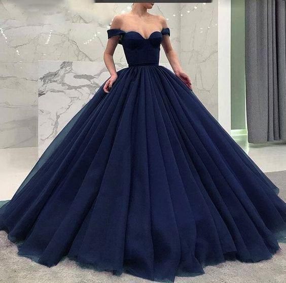 Off The Shoulder Black Burgundy Navy Blue Ball Gown Prom Dresses For W Nydress Prom Dresses Modest Poofy Prom Dresses Blue Ball Gowns