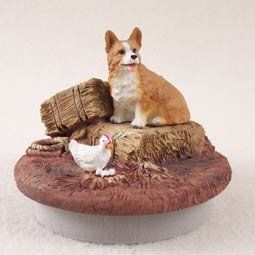 """Conversation Concepts Miniature Welsh Corgi Pembroke Candle Topper Tiny One """"A Day on the Farm"""" ** Want additional info? Click on the image."""